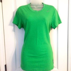 Bright Green Nike Dri-Fit Cotton Tshirt